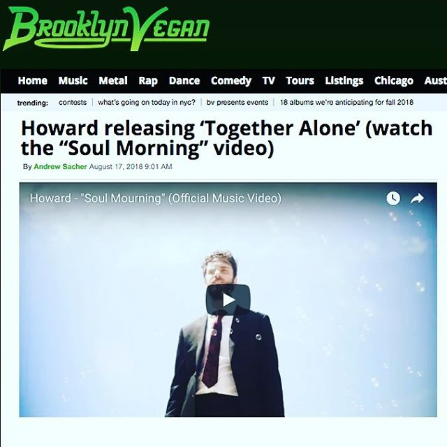NEW VIDEO IS OUT!  Link in bio 👆 • Big thanks to @brooklynvegan for the premiere! • • Directed by: @carolinkoss Filmed by: @sageatwood Edited by: Otto Andersson