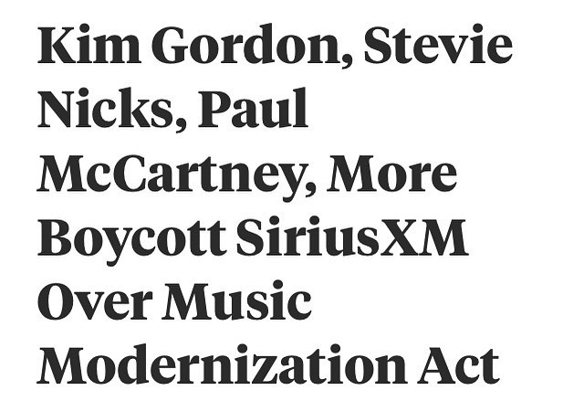 @siriusxm is the last major company preventing seriously needed reform for artists in the digital age. Congrats to these folks for standing up. 🙏
