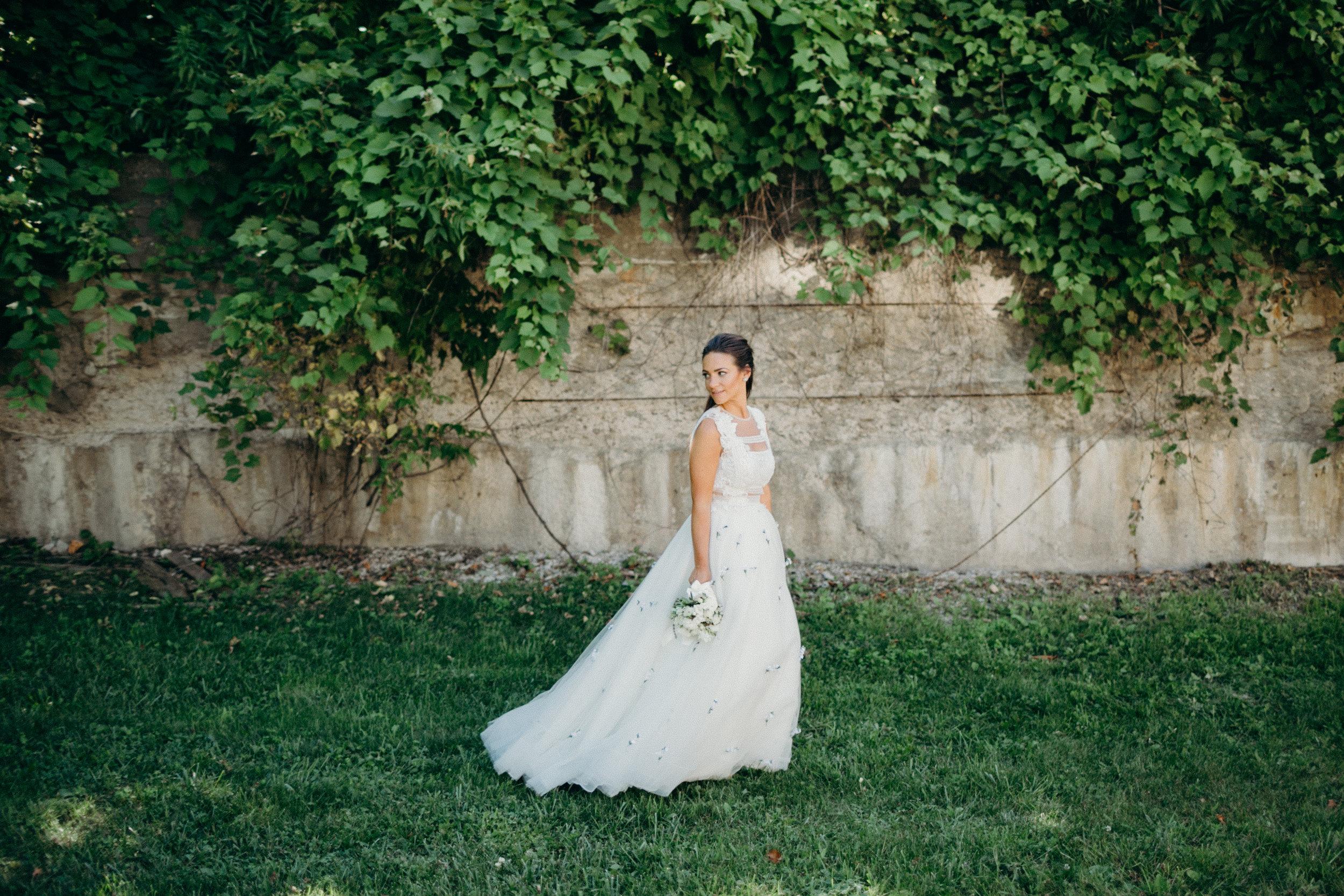 Organic White Wedding in Northern Michigan