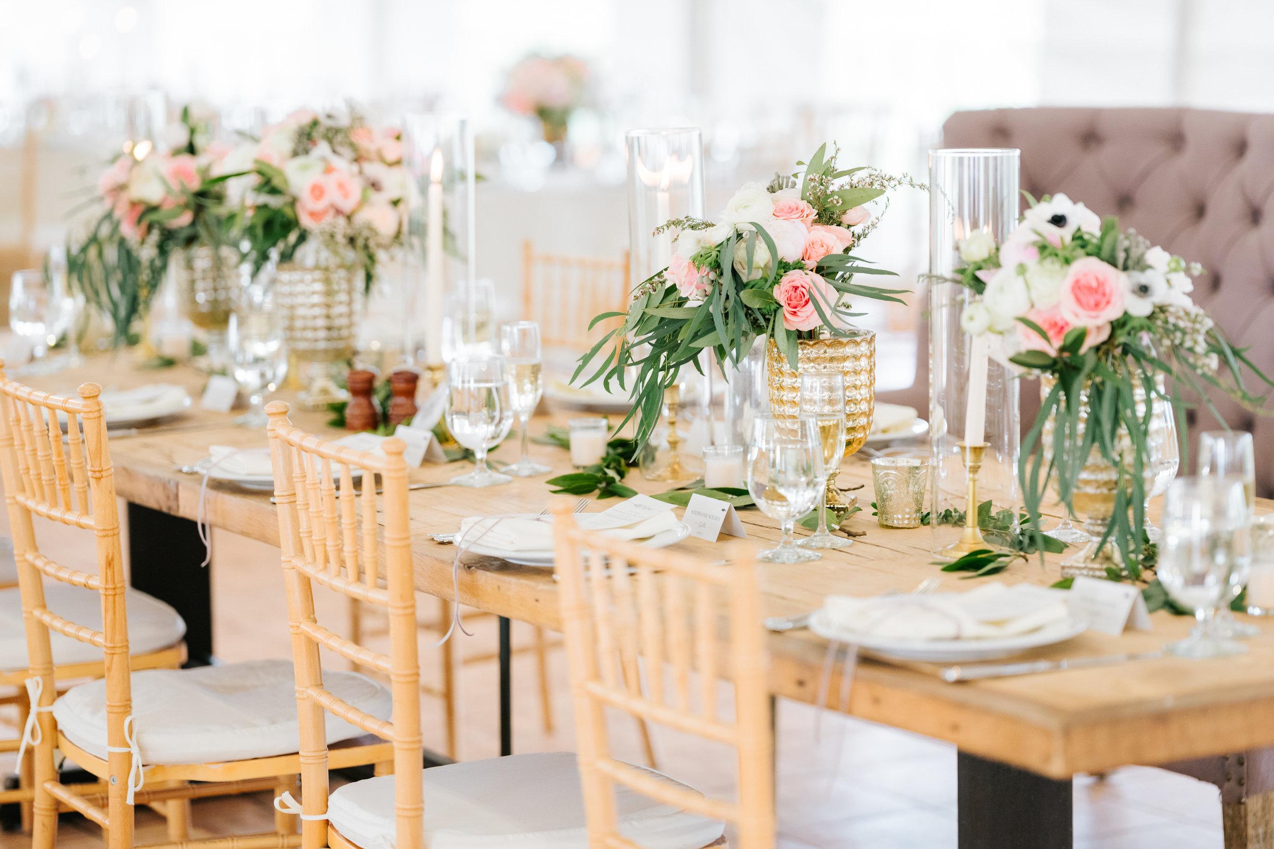 Blush Wedding Head Table at Zingerman