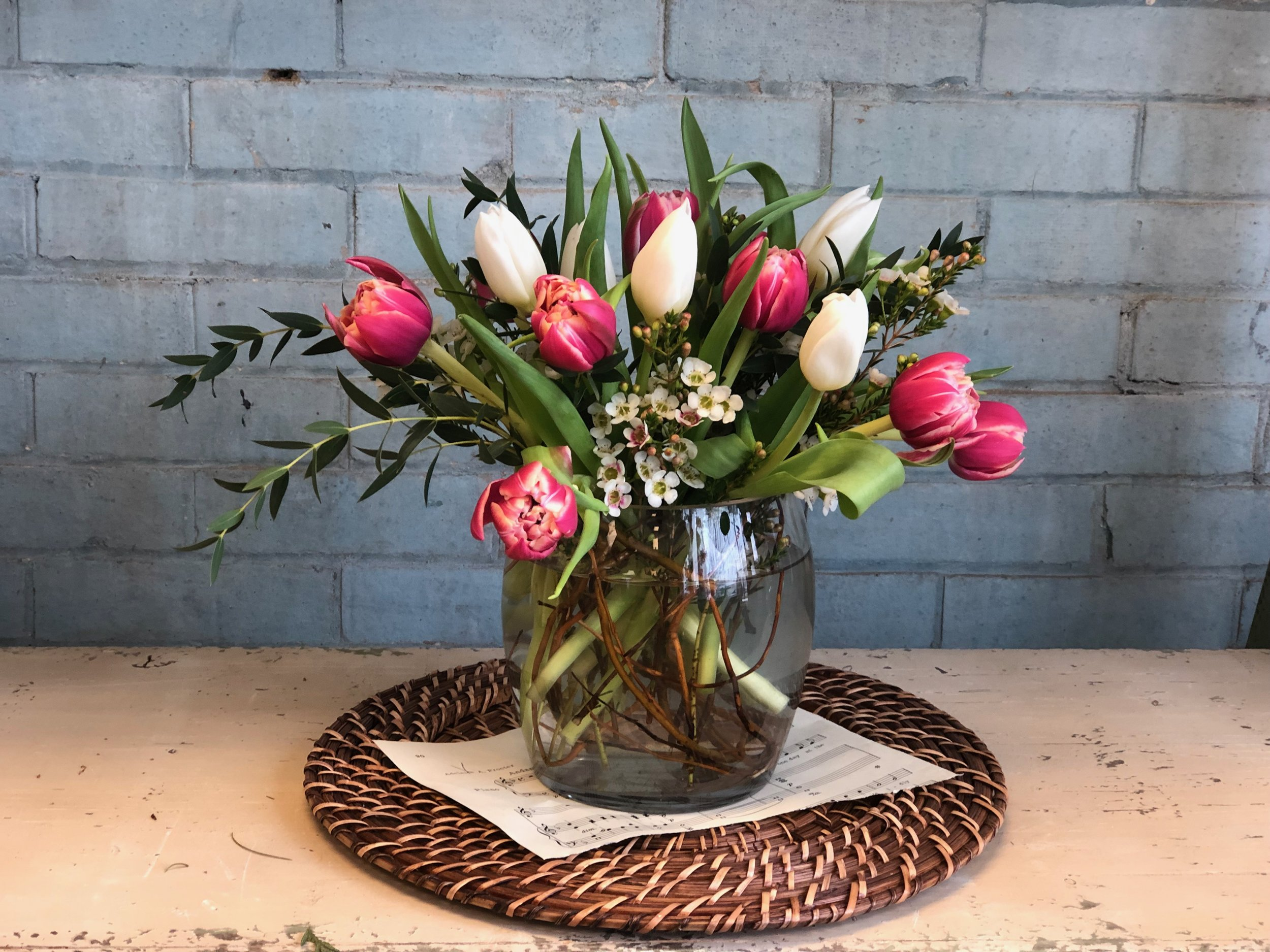 Chase the winter blues away by joining  Merci Beaucoup Floral  on Thursday, January 24, 2019 for a floral arranging workshop featuring colorful TULIPS!  Together we will create a beautiful arrangement guaranteed to brighten your home this winter.  Grab your friends and come for a fun evening of learning and creativity!  Cost is $45.00  Cost includes: Vase, flowers and all supplies.  Light refreshments will also be served.   Follow the link for more information or to register!   Eventbrite Tickets