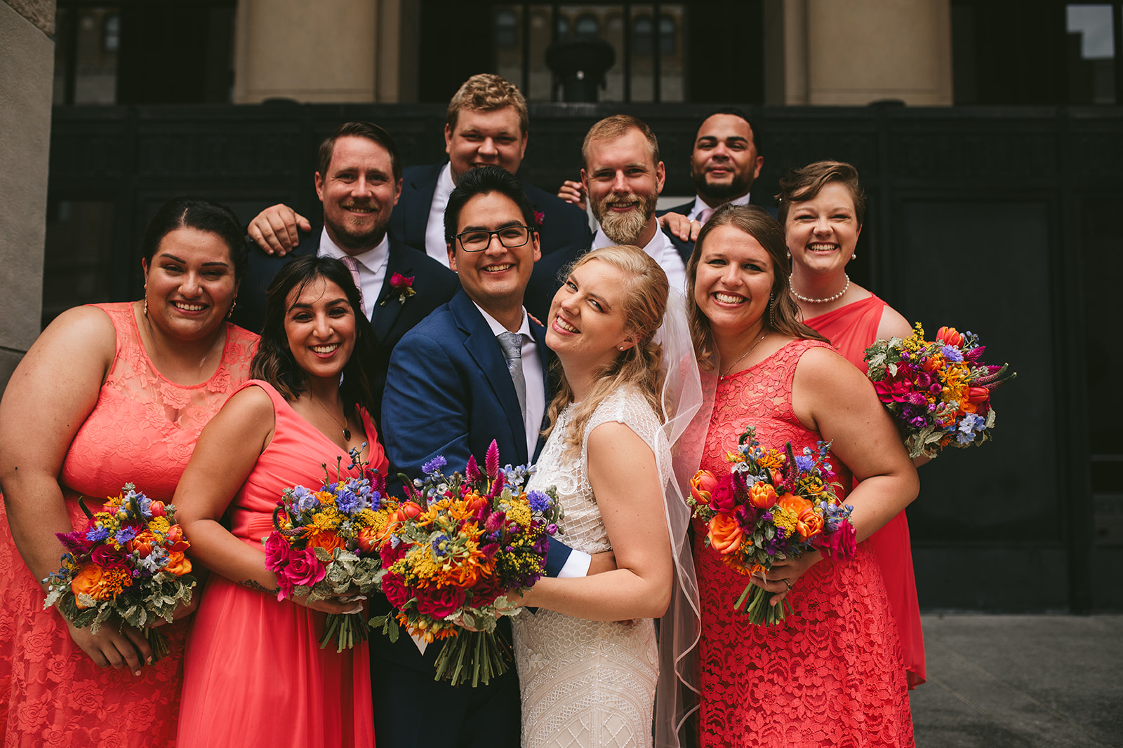 Coral Wedding Luna Grand Rapids Wedding