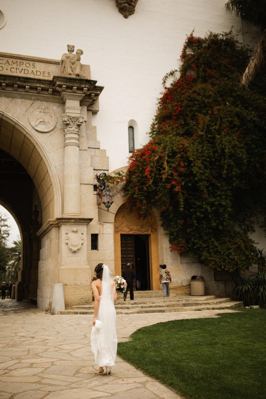 Elopement Spanish Style Santa Barbara Courthouse California Romantic dramatic moody dark wedding marriage photographer photography European Europe  - 3.jpg