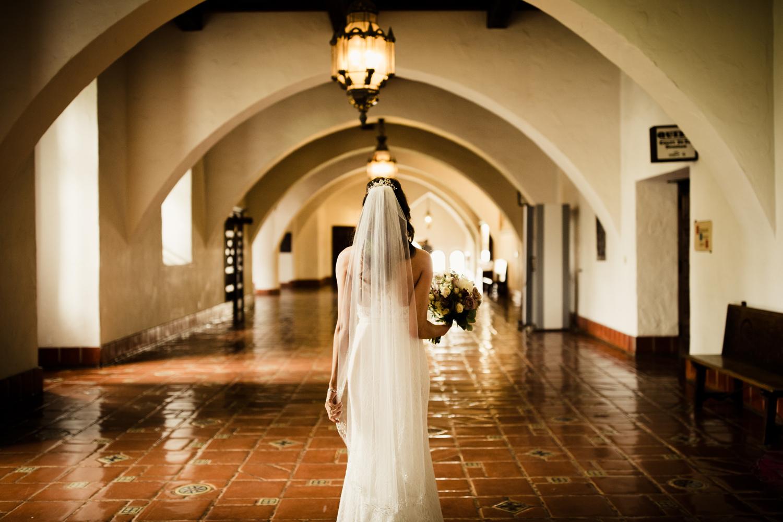 Elopement Spanish Style Santa Barbara Courthouse California Romantic dramatic moody dark wedding marriage photographer photography European Europe  - 10.jpg