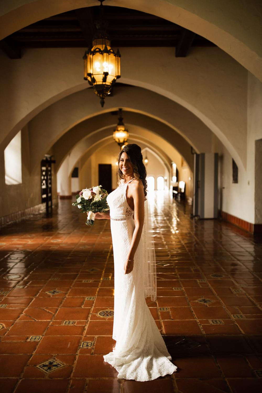 Elopement Spanish Style Santa Barbara Courthouse California Romantic dramatic moody dark wedding marriage photographer photography European Europe  - 11.jpg