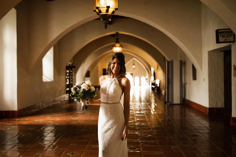 Elopement Spanish Style Santa Barbara Courthouse California Romantic dramatic moody dark wedding marriage photographer photography European Europe  - 12.jpg