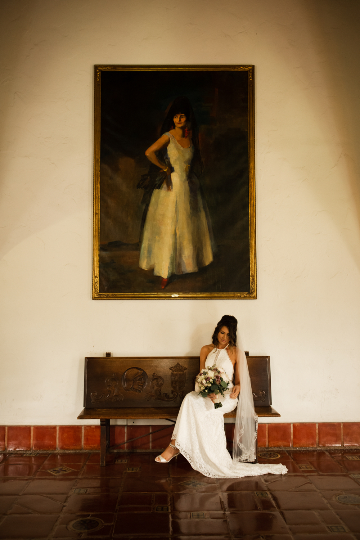 Elopement Spanish Style Santa Barbara Courthouse California Romantic dramatic moody dark wedding marriage photographer photography European Europe  - 13.jpg