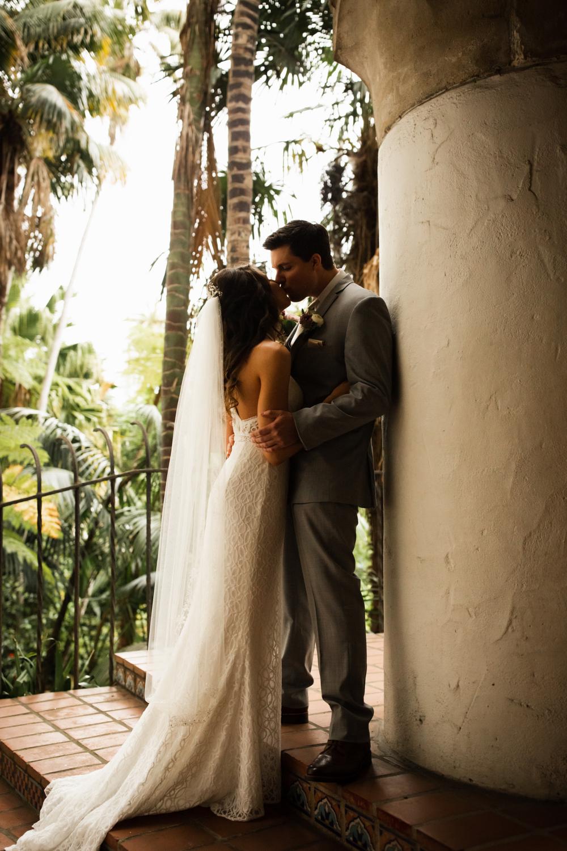 Elopement Spanish Style Santa Barbara Courthouse California Romantic dramatic moody dark wedding marriage photographer photography European Europe  - 15.jpg