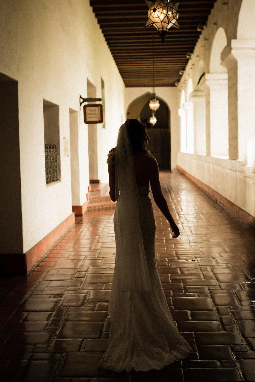 Elopement Spanish Style Santa Barbara Courthouse California Romantic dramatic moody dark wedding marriage photographer photography European Europe  - 24.jpg
