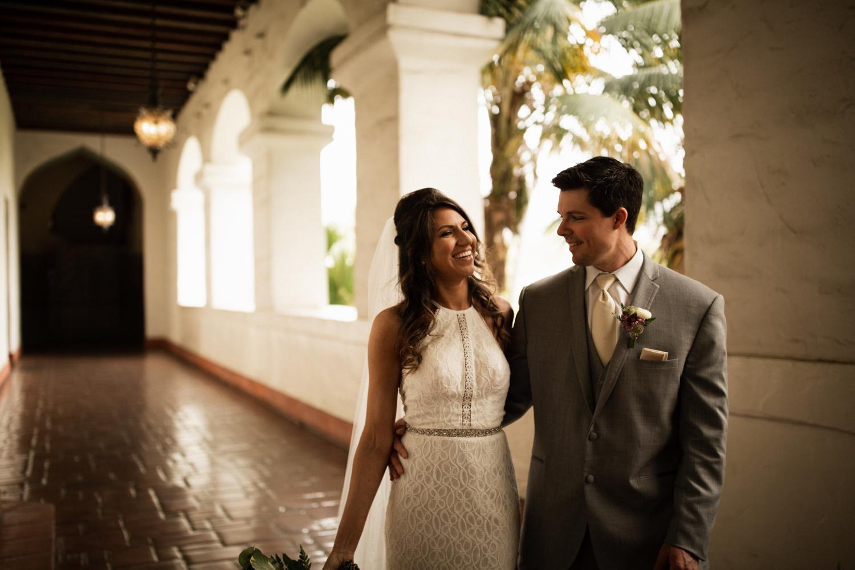 Elopement Spanish Style Santa Barbara Courthouse California Romantic dramatic moody dark wedding marriage photographer photography European Europe  - 27.jpg
