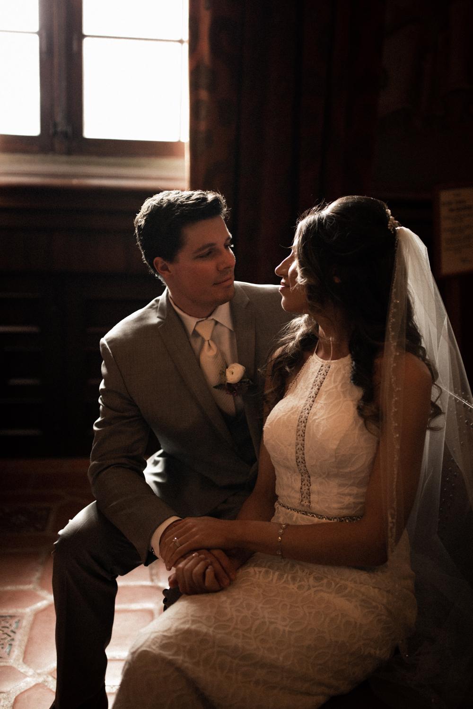 Elopement Spanish Style Santa Barbara Courthouse California Romantic dramatic moody dark wedding marriage photographer photography European Europe  - 31.jpg