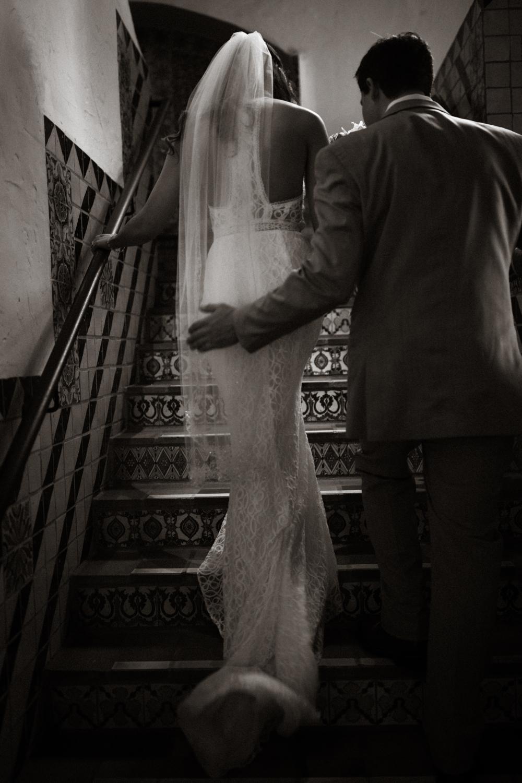 Elopement Spanish Style Santa Barbara Courthouse California Romantic dramatic moody dark wedding marriage photographer photography European Europe  - 36.jpg