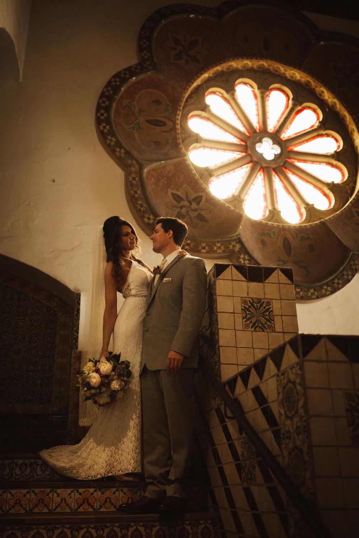 Elopement Spanish Style Santa Barbara Courthouse California Romantic dramatic moody dark wedding marriage photographer photography European Europe  - 37.jpg