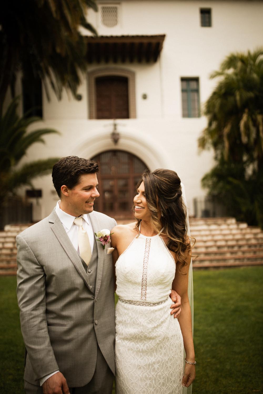 Elopement Spanish Style Santa Barbara Courthouse California Romantic dramatic moody dark wedding marriage photographer photography European Europe  - 41.jpg