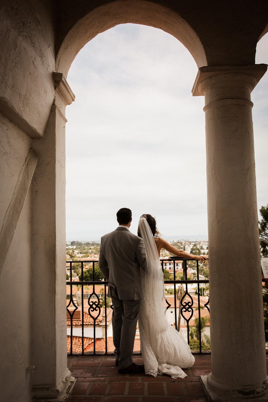 Elopement Spanish Style Santa Barbara Courthouse California Romantic dramatic moody dark wedding marriage photographer photography European Europe  - 57.jpg