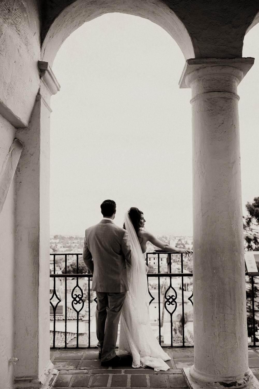 Elopement Spanish Style Santa Barbara Courthouse California Romantic dramatic moody dark wedding marriage photographer photography European Europe  - 58.jpg