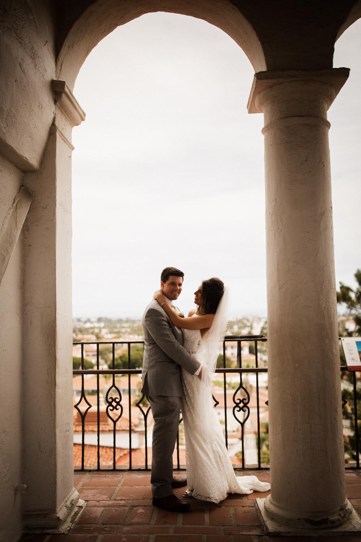 Elopement Spanish Style Santa Barbara Courthouse California Romantic dramatic moody dark wedding marriage photographer photography European Europe  - 61.jpg