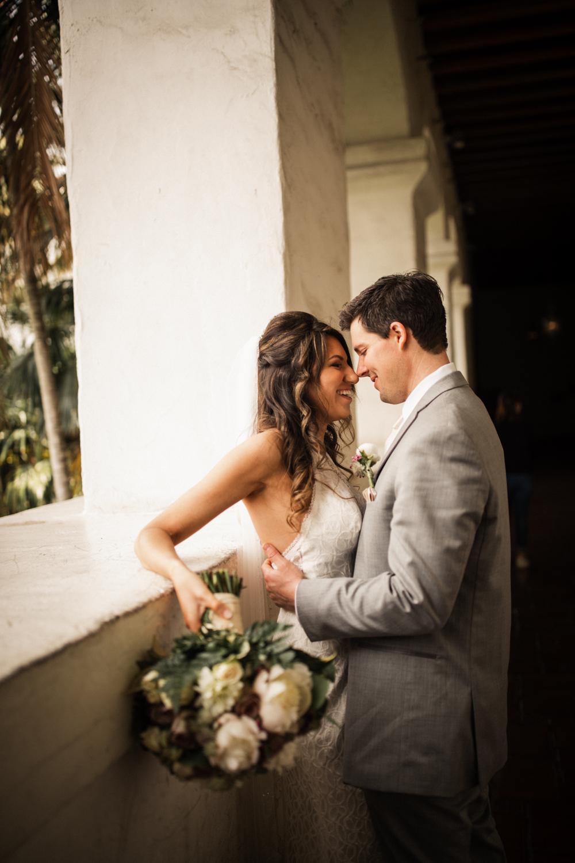 Elopement Spanish Style Santa Barbara Courthouse California Romantic dramatic moody dark wedding marriage photographer photography European Europe  - 66.jpg