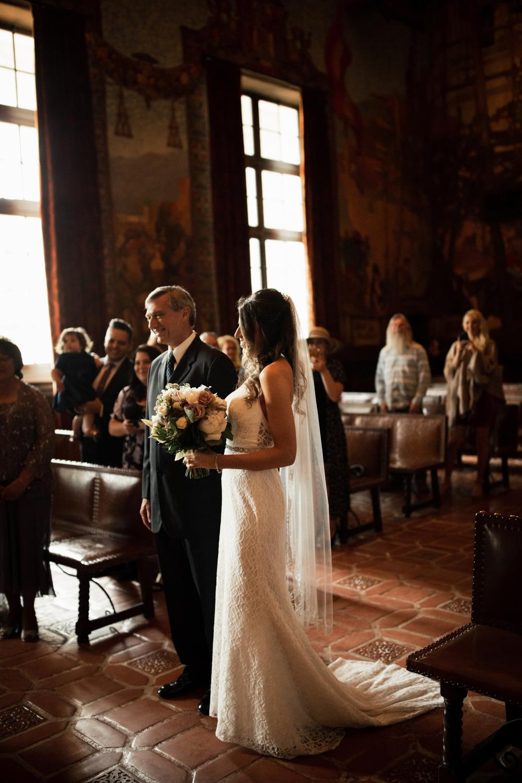 Elopement Spanish Style Santa Barbara Courthouse California Romantic dramatic moody dark wedding marriage photographer photography European Europe  - 70.jpg