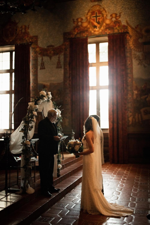 Elopement Spanish Style Santa Barbara Courthouse California Romantic dramatic moody dark wedding marriage photographer photography European Europe  - 73.jpg