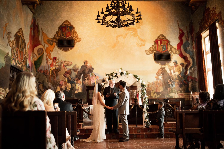 Elopement Spanish Style Santa Barbara Courthouse California Romantic dramatic moody dark wedding marriage photographer photography European Europe  - 76.jpg