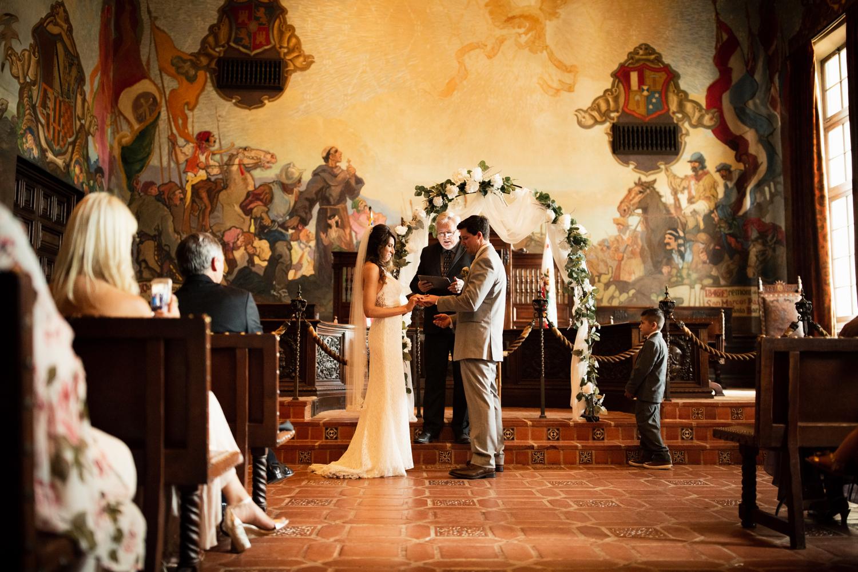 Elopement Spanish Style Santa Barbara Courthouse California Romantic dramatic moody dark wedding marriage photographer photography European Europe  - 77.jpg