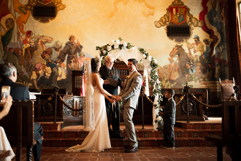Elopement Spanish Style Santa Barbara Courthouse California Romantic dramatic moody dark wedding marriage photographer photography European Europe  - 81.jpg