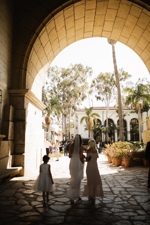 Elopement Spanish Style Santa Barbara Courthouse California Romantic dramatic moody dark wedding marriage photographer photography European Europe  - 87.jpg