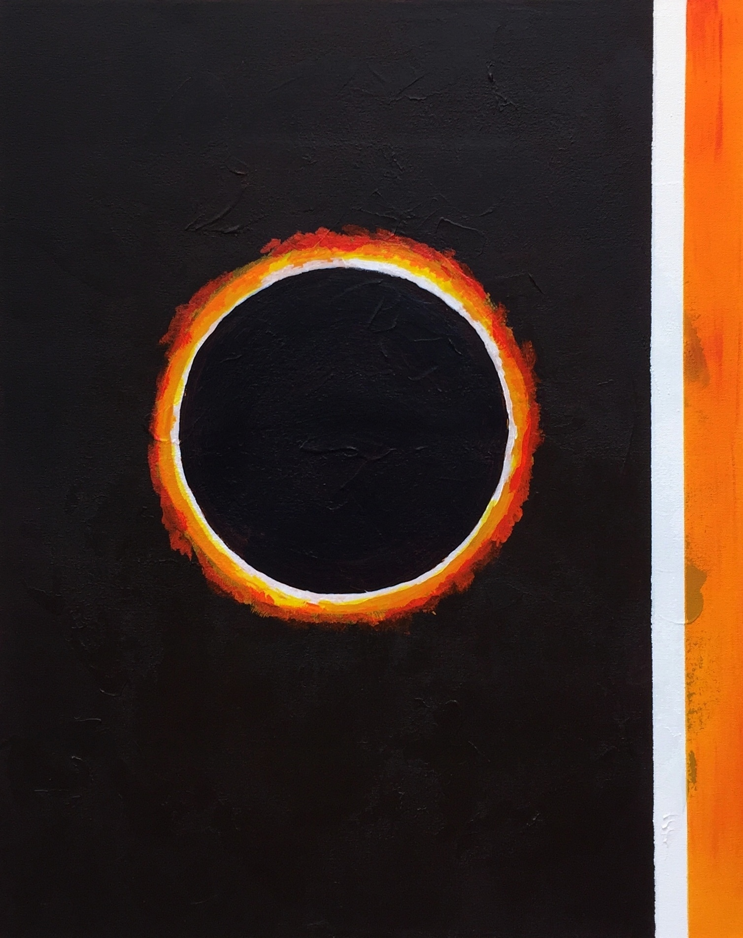 """""""ECLIPSE II"""",  Oil on Canvas,  24x30 inches"""