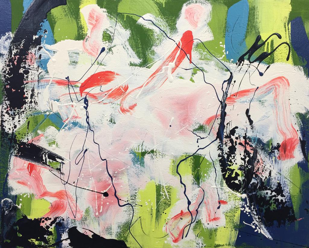 Dogwood,  acrylic on canvas,  24 x 30 inches