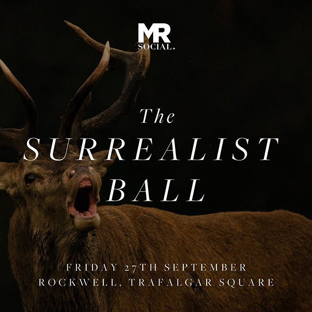 "✨PRIVATE SERVICE ANNOUNCEMENT:✨ Mr Social is back this September with ""The Surrealist Ball"", a Salvador Dali-inspired, high glam affair at new cocktail destination @rockwellsw1 🍸 Membership applications at www.heymrsocial.com ☝🏽 • • • • • • • • • • • #heymrsocial #mrsocial #privateparty #gaylondon #gayuk #rockwell #trafalgarstjames #soho #londonpride"