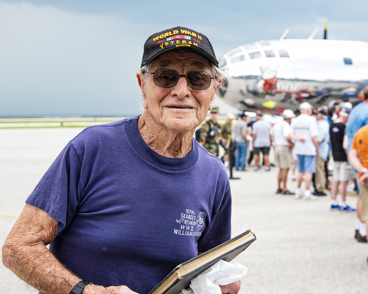 One of the B29 Veterans from the Cleveland area who came out to see Doc.