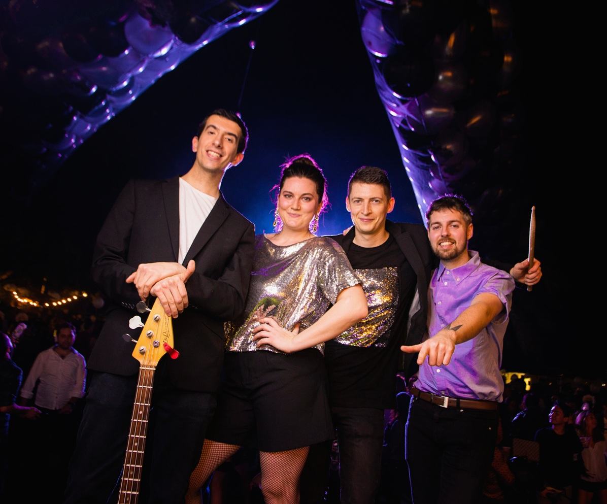 Four-piece band - Male and female vocals, guitar, bass guitar and drums.A great option for those who want a scaled down version of our regular band to suit budgets and tighter performance spaces