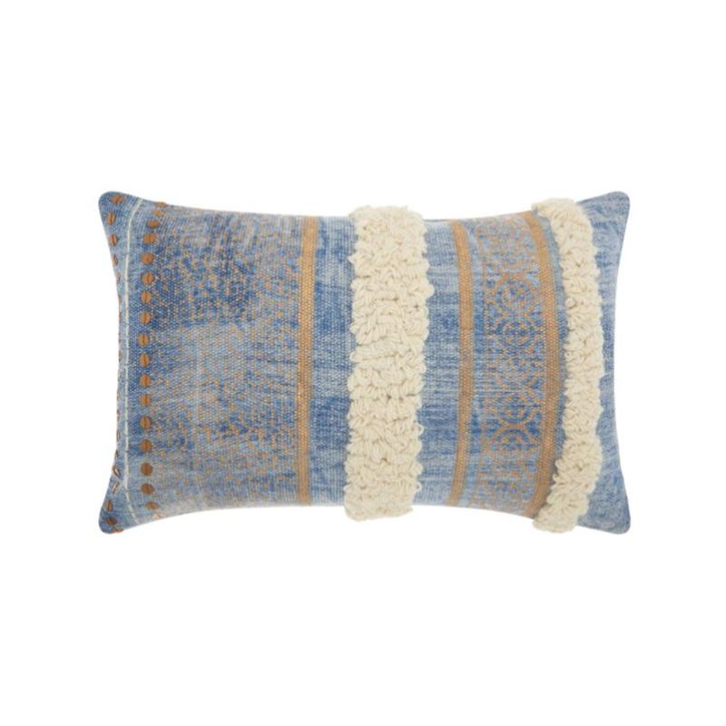 Mina Victory Life Styles Metallic Texture Boho Decorative Throw Pillow.jpg