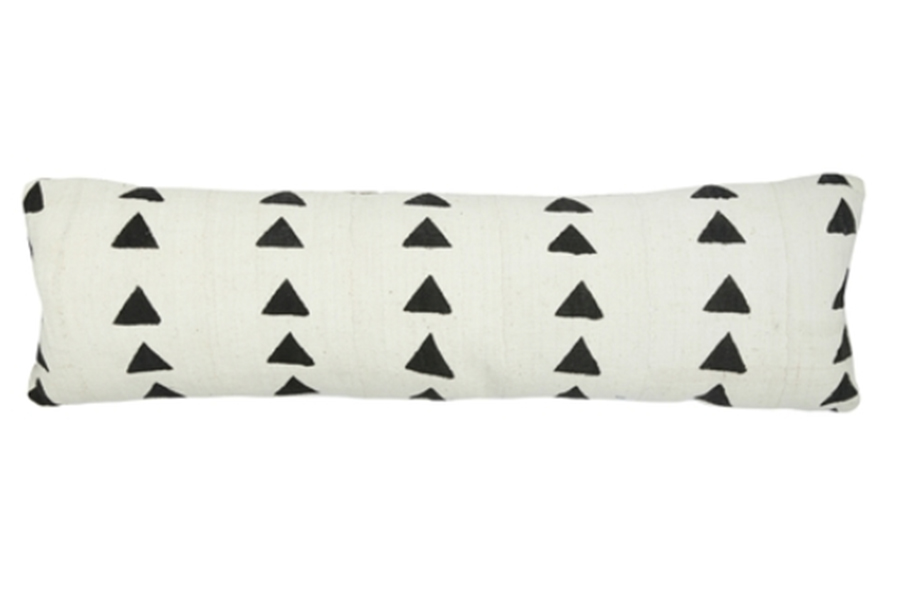 Efuru One Of A Kind Mudcloth Lumbar Pillow
