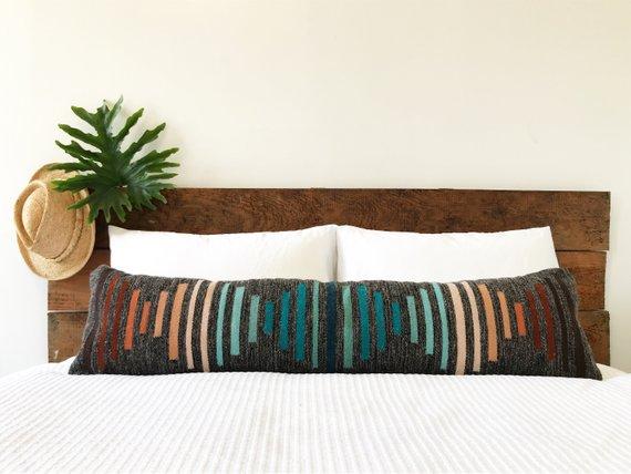 Lumbar Pillow Cover - Mezcla Dark Grey Puesta del Sol