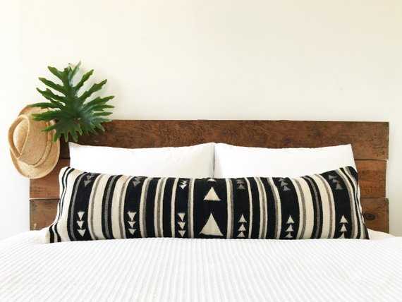Lumbar Pillow Cover - Flecha Black / White