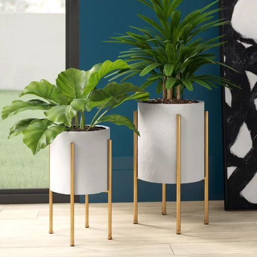 Manhasset Mid Century 2-Piece Aluminum Pot Planter Set.jpg