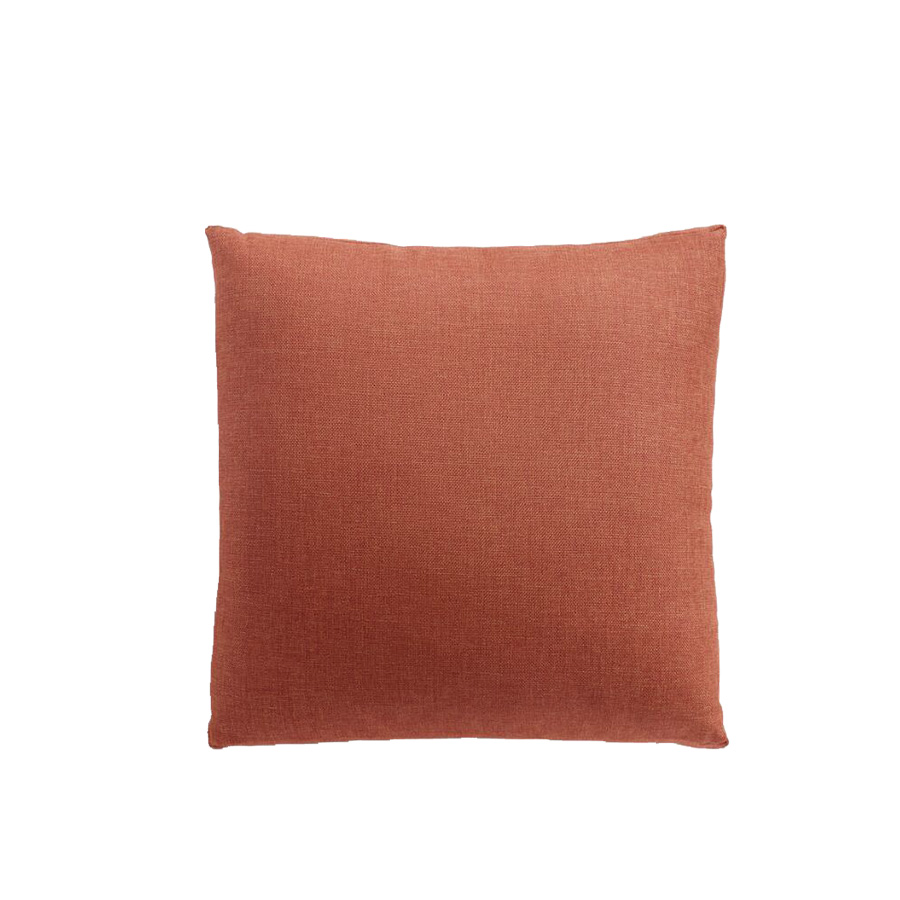 Red Orange Gusseted Outdoor Throw Pillow