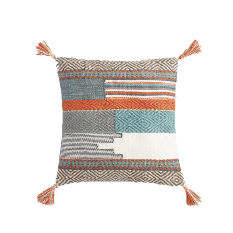 Desert Tapestry Woven Outdoor Throw Pillow