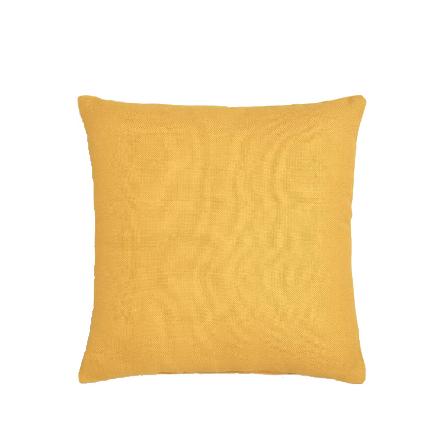 Golden Yellow Woven Outdoor Throw Pillow