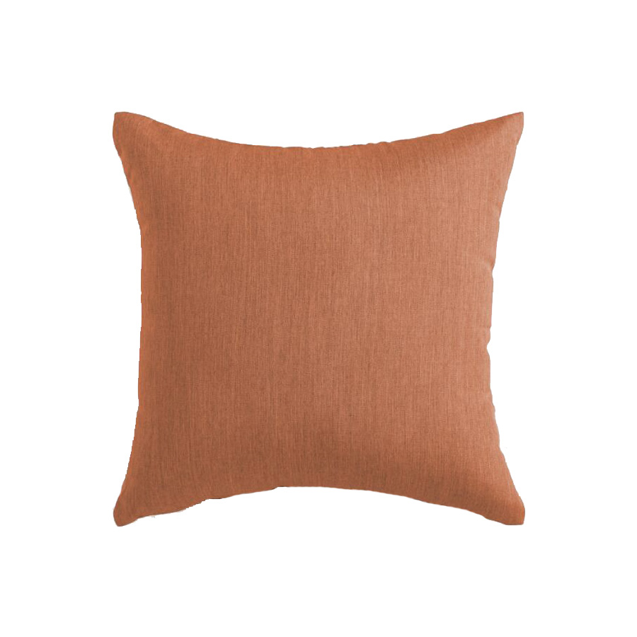 Sunbrella Rust Canvas Outdoor Throw Pillow