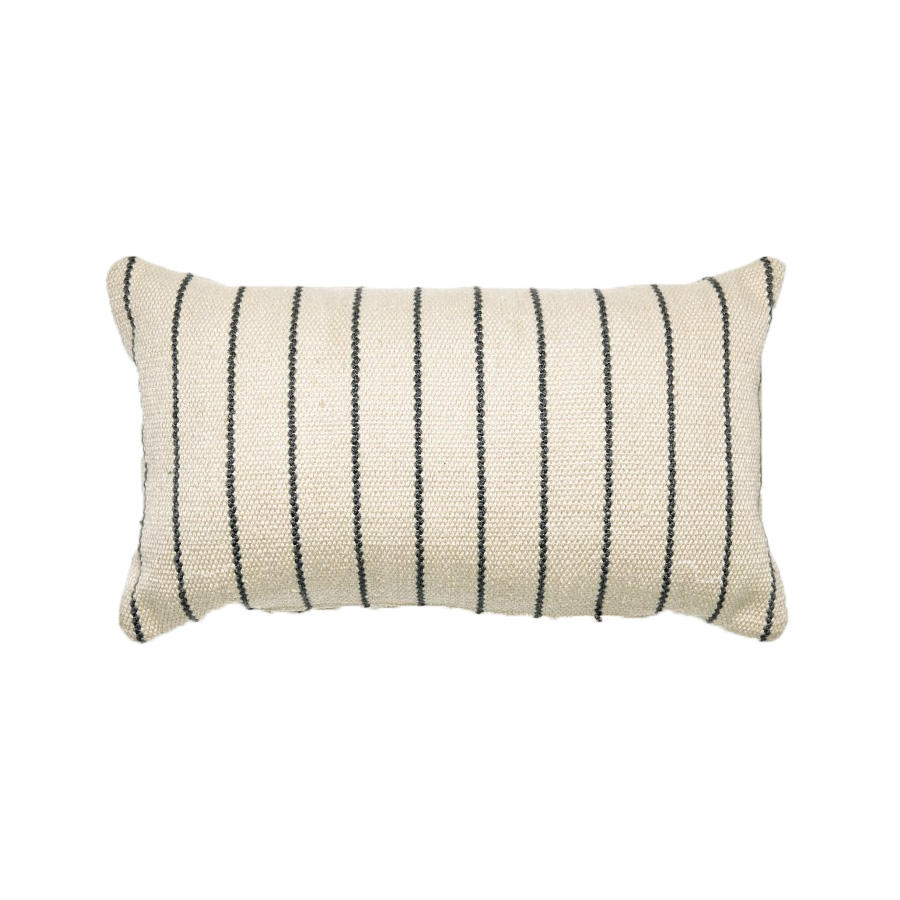 MoDRN Stripe Lumbar Outdoor Throw Pillow