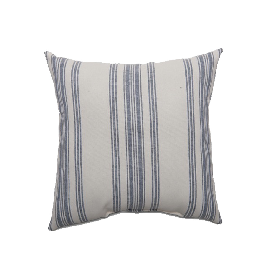 Square Ticking Stripe Outdoor Pillow Navy - Threshold