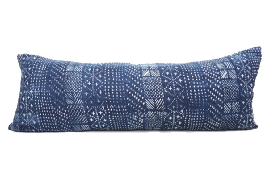 14x35, Extra Long Mud cloth Lumbar Pillow Cover