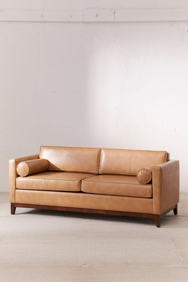 Piper Petite Recycled Leather Sofa - $1,029.00