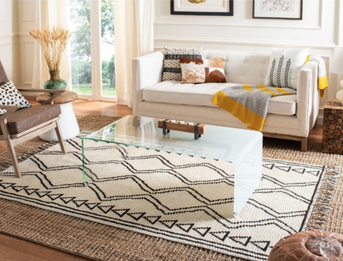 Safavieh Handmade Natural Fiber Jerneja Casual Solid Jute Rug - Overstock  - $17.91+ (Great for the layered look!)