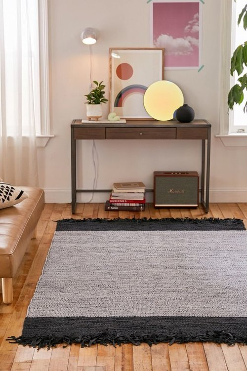 Jones Leather Woven Rag Rug - Urban Outfitters  = $89+