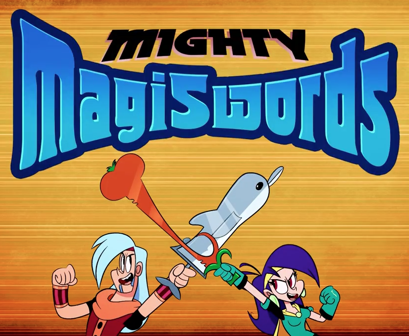 Mighty Magiswords logo with Prohyas and Vambre cropped.png