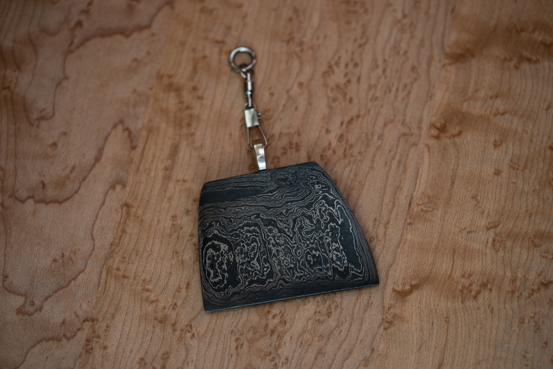 Damascus Keychain